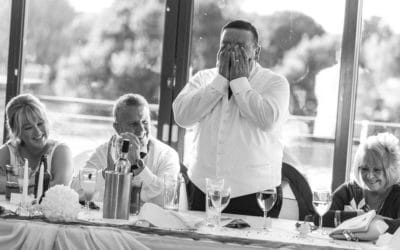 Split second anticipation to capture that wedding memory